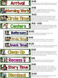 Sample Preschool Organizational Chart Our Half Day Preschool Schedule Preschool Schedule