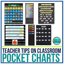 Black Pocket Charts In The Classroom Clutter Free Classroom