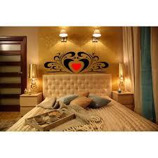 headboard wall art stickers romantic heart pattern wall graphics bedroom wall decals