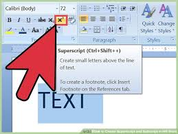 image titled create superscript and subscript in ms word step 2