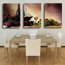 kitchen canvas wall art beautiful 3 pieces wall decor oil painting wine fruit kitchen