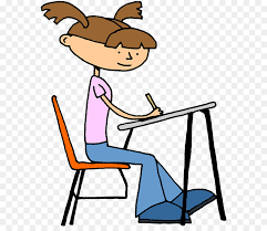 student doing school desk teacher clip art children writing clipart
