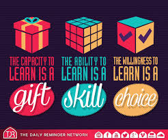 the capacity to learn is a gift the ability to learn is a skill the capacity to learn is a gift the ability to learn is a skill