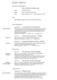 Academic Resume Template For College Enchanting Latex Resume Template LaTeX Templates Curricula Vitae R Sum S