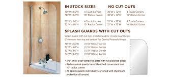 shower splash guards frameless