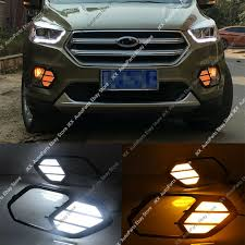 Ebay India Led Lights Details About Led Daytime Running Light Drl W Turn Signal For Ford Escape Kuga 2017 2018 2019