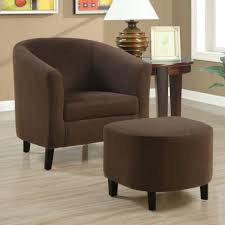 Living Room Chairs With Ottomans Living Room Comfortable Chairs For Living Room With Chocolate