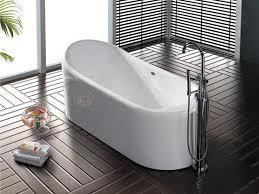 The deep of the narrow bathtub