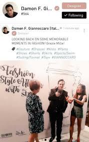 F Designer Brand Damon F Giannoccaro An Italian Designer A Luxury Brand