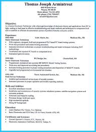Electronic Technician Resume 12 Invest Wight