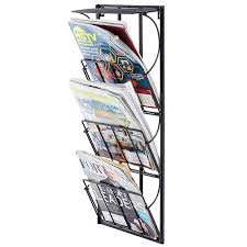 newspaper rack 1.  Rack 3 Tier Metal Wall Mounted Magazine Newspaper Rack And Display Shelf  Inside 1