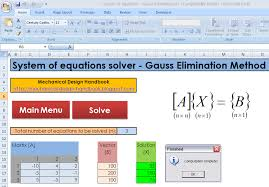 in case something wrong with equations the program will shows the error message the following equations have no solution and program terminated