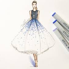 Model Dress Design Drawing Pin On Fashion Drawings