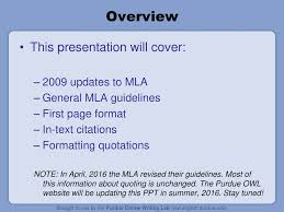 Welcome To Mla Formatting And Style Guide Ppt Download