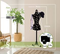 Stylish Coat Rack Funlife 100x100cm 100x100in Stylish Mannequin Clothes Stand Coat Rack 80