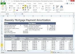 Free Loan Amortization Template Weekly Calculator Bi Payment