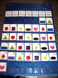 A Heart For Home Sew Your Own Pocket Chart Calendar From A