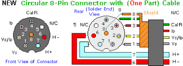 lsu connectors and wiring new one part cable this diagram shows both the front of the circular 8 pin connector as seen by someone looking at the end of the completed cable
