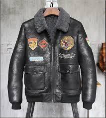 high quality men genuine leather winter jacket men s sheepskin shearling