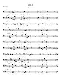 Baritone Finger Chart Treble Clef 3 Valve Mayor Scales Fingering Baritone Horn Euphonium Valve