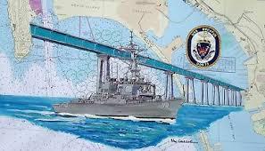 Uss Decatur Ddg 73 Nautical Chart Art Print Us Navy Ship