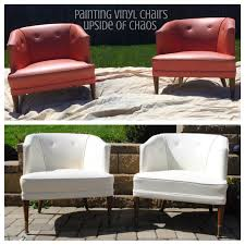 It only cost four cans of spray paint and a the nozzle which was less than  $20 total! Would you be willing to give a vinyl chair a makeover?