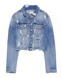 Zara Women Cropped Denim Jacket 4979 223 At Amazon Womens