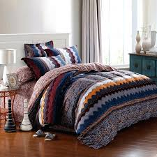 orange and blue comforter gypsy bedding sets desire rust orange blue yellow and white tribal style