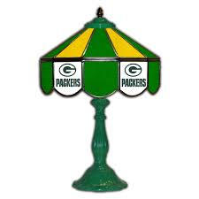 green bay packers glass table lamp