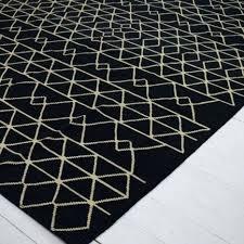 black white gray kilim rug and living room accessory wool 4