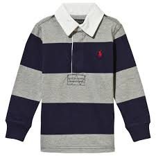ralph lauren striped rugby shirt french navy french navy
