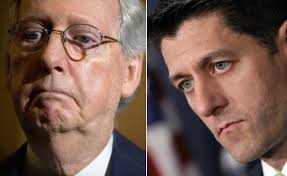 Image result for trump hammers ryan and mcconnell