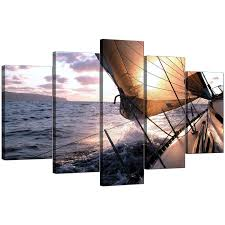 display gallery item 4 5 panel set of living room blue canvas art display gallery item 5 on boat canvas wall art with boat canvas prints uk for your living room 5 piece