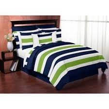 Buy Lime Green Comforter from Bed Bath & Beyond & Sweet Jojo Designs Blue and Lime Green Stripe 3-Piece King Comforter Set Adamdwight.com