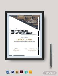 23 Sample Attendance Certificate Templates In Illustrator