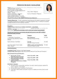Cv English Structure Professional Resumes Sample Online