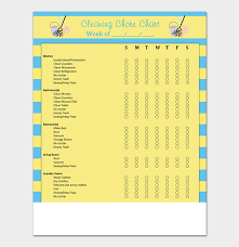 House Cleaning Chart House Cleaning Schedule Template Free For Word Pdf