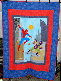 Dinah's Quilts and Embroidery: Spider-Man Quilt & Spider-Man Quilt Adamdwight.com