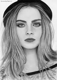 Pencil Drawing Cara Delevingne By Isabel Mr On Deviantart