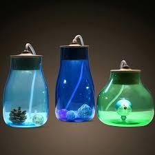 lamp light blue table lamp creative glass jar green kid room bottle desk reading art