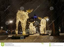 Moose Christmas Lights Gigantic Elk Or Moose Christmas Decoration Made Of Led Light