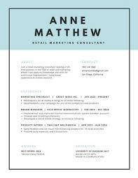 Blue Header With Black Border Minimalist Resume Templates By Canva