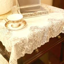 coffee table cloth white satin embroidered tablecloth upscale luxury modern coffee table table cloth tablecloth round tablecloth in tablecloths from home