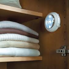closet lighting solutions. Auto On Off LED Puck Lights Pertaining To Battery Operated For Closets Plan 2 Closet Lighting Solutions