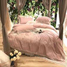 100s pima cotton pink luxury lace embroidery bedding set queen king size duvet cover bed linen bed sheet pillowcases 4 black comforter full bargain bedding