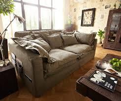 Hussensofa Noelia 240x145 Cm Braun Couch Mit Kissen