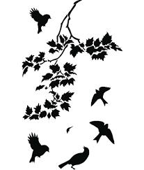 studio briana flying birds over tree silhouette wall decor decal on premium vinyl
