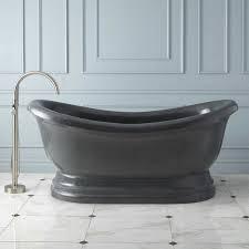 72 hadrian stone double slipper tub polished blue gray granite bathroom