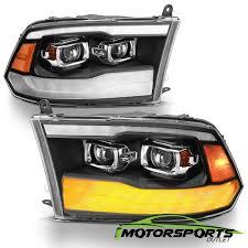 2016 Dodge Ram Fog Light Bulb Details About For 2009 2018 Dodge Ram 1500 2500 3500 Black Led Drl Dual Projector Headlights