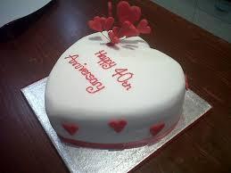 40th Wedding Anniversary Cake Fancycakesbenidorm